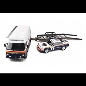 PORSCHE 911 SC RS & VW LT35 & Trailer(1/18)