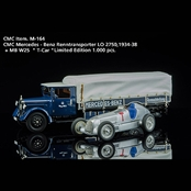 MERCEDES−BENZ Racing Car Transporter LO 2750 + W25 T−car(1/18)